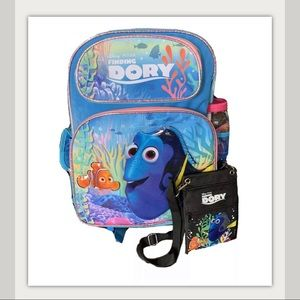 Disney Pixar Finding Dory Backpack Cup Pouch 3 Pc